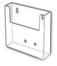 "6"" Wall-Mount Acrylic Literature Holder, W-160"