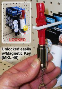 anti-theft peg hook locking device, key, MKL-46