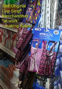 Clip Strip® Merchandiser, holding package, CS-12 NT