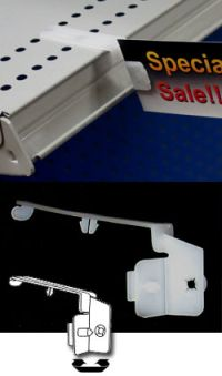 Flag Sign Holder - Shelf Edge Clips & Label Holders, SPL-200, attach to shelf top perforations