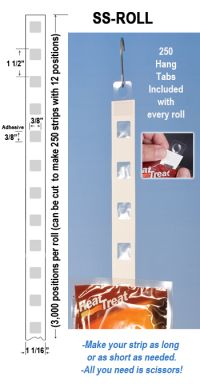 Sticky Strips™ on a Roll, Adhesive Display Strips, item# ss-roll