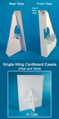"32 point Cardboard Easel Wing, 5"", BEB-1234W"