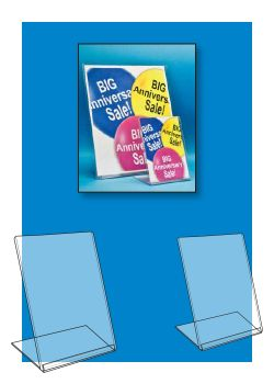 Affordable Slanted Style Easel Sign Frames, Clip Strip Corp.