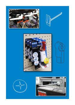 Display Hook Systems - Peg Board Hangers, Slatwall Hooks, Power Panels, etc