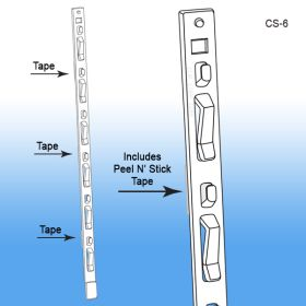 Clip Strip® Merchandising Strip with Tape, Impulse Sales, Cross Selling, CS-6