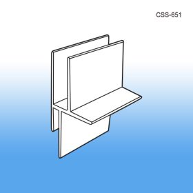Corrugated Shelf Support Insert, Double Capacity, Temporary Display Construction, CSS-651