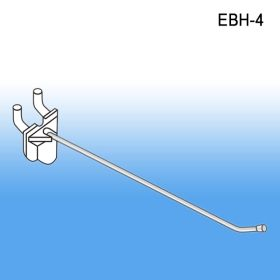 "4"" Easy Remove Back Pegboard and Slatwall Metal Hooks, EBH-4"