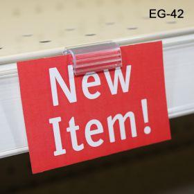 Grip-Tite™ Data-Talker Hinged Flush Sign Holder, EG-42