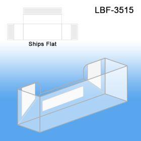 Flat Peel & Stick Literature Holder, Business Cards, LBF-3515