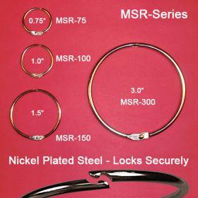 metal snap rings hinged, MSR-100