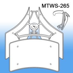 Mobile Tri-Way Sign Holder | Ceiling Display Systems, MTWS-265