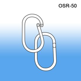 "15/16"" Plastic Oval Split Rings - Bulk & Wholesale, OSR-50"