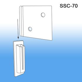 "2 3/8"" Corrugated Shelf Support Clip, SSC-70"