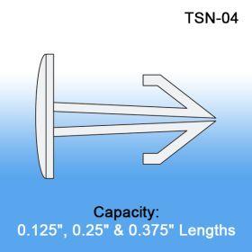 Arrow Head Thumb Snaps - Display Fasteners, TOSN-04/07/10