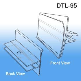 data tag scan hook upc holder, 7 gauge metal hooks with bent back ends, DTL-95