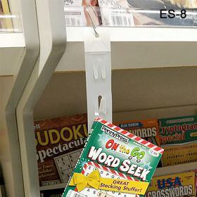 clip strip merchandising display strip with 8 hooks and tape, ES-8