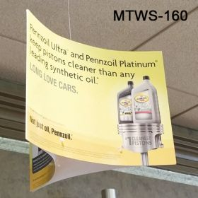mobile three directional ceiling sign holder, MTWS-160