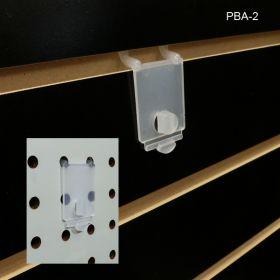 Acrylic Literature Holder wall adapter, PBA-2, slatwall, pegboard