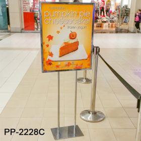 """poster frame floor stand 22"""" x 28"""", PP-2228, chrome"""