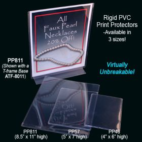 "Print Protector PVC, Sign Holder, 4"" x 6"", PP46"