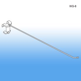 "8"" No Sag™ Easy Remove Back Metal Wire Power Panel Hook, WG-8"