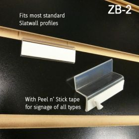 """Z"" Bar Slatwall Adapter, ZB-2"
