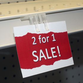 shelf edge price channel label and sign holder, 3WPC
