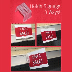 3WPC, 3-way Price Shelf Channel Sign Holder