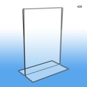 "Bottom Loading Acrylic Sign Holder 5"" x 7"", item #406"