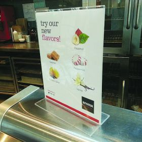 "sign holder for 8.5"" x 11"" brochures, Item #407"