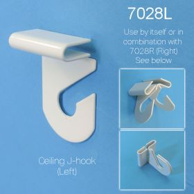 Aluminum Ceiling J Hook, Left Angle, 7028L