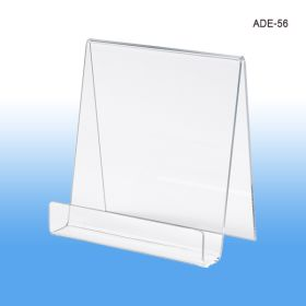 5 1/2 inch wide acrylic display easel, ADE-56