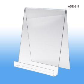 9 inch wide acrylic display easel, ADE-911
