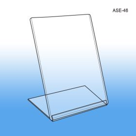 "4"" W x 6"" H Slanted Style Easel Sign Holder, ASE-46"