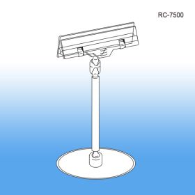 Roto Clip Sign Holders - Peel n Stick Base | Swivel Display, RC-7500, POP Clips