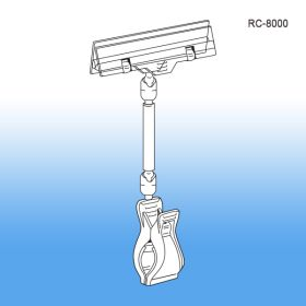 roto clip extenda jumbo sign holder, RC-8000