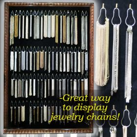 pear shaped split ring hook jewelry chain displays, SCR-25