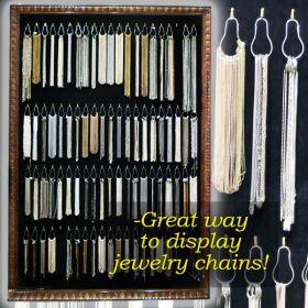 pear shaped split ring hook jewelry chain displays, SCR-25