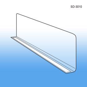 "3"" x 9-9/16"" Econo-Line Shelf Divider, Adhesive Mount, SD-3010"