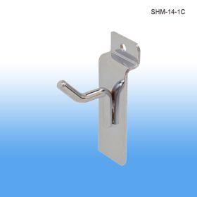 chrome retail slatwall hooks, SHM-14-1C
