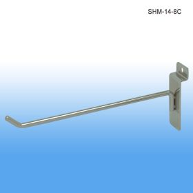 chrome 8 inch slatwall display hooks, SHM-14-8C