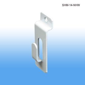 white semi gloss slatwall notch hook, SHM-14-NHW
