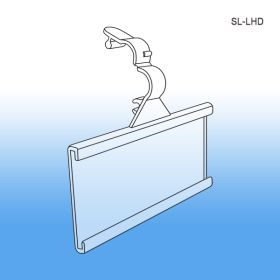 Secure - Lok Wire Ticket Holder, with Channel | Label & Sign Display, SL-LHD