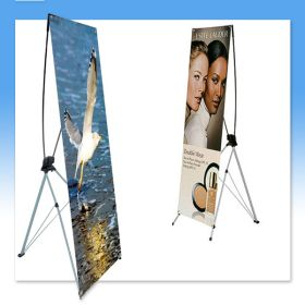 Floor Banner Stand, X-Style, Heavy Duty, SST-65FHD