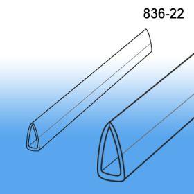 "Clear Banner Hanger Stabilizer | Bottom Support | 22"" | 836-22C"