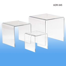 "Display Risers, Acrylic, Set of Three - 3"", 4"", 5"", ADR-345"