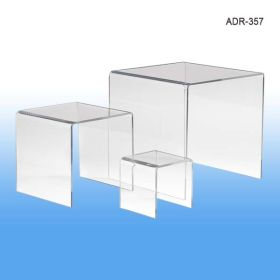 "Display Risers, Acrylic, Set of 3 - 3"", 5"", 7"", ADR-357"