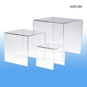 "Display Risers, Acrylic, Set of Three - 4"", 6"", 8"", ADR-468"