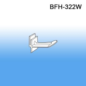 "2"" White Butterfly Display Plastic Hooks, BFH-322W, POWER PANELS"