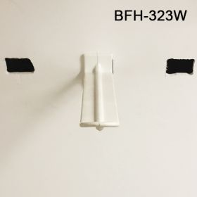 "3"" Butterfly Power Panel Display Plastic Hooks, Available in White and Black, BFH-323"